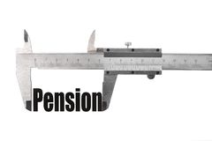 The size of our pension Royalty Free Stock Photography