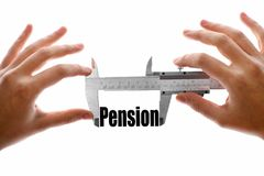 The size of our pension Stock Photography