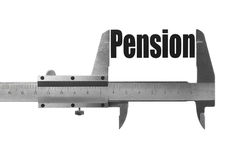 The size of our pension Stock Images