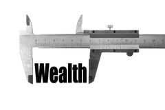 The size of our wealth Royalty Free Stock Photography