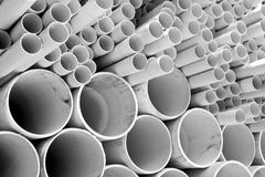 Size of PVC pipes Stock Photography