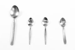 Size of spoon Royalty Free Stock Photography