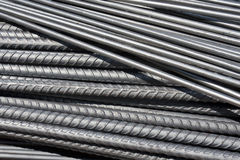 Steel rod in construction site Royalty Free Stock Images