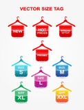 Size tag. Modern set of size tag Royalty Free Stock Images