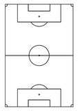 A4 size vertical soccer court line vector Royalty Free Stock Images