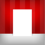 A4 size white blank empty paper with editable elements. Red stripes color background. Abstract flyer design background Royalty Free Stock Photography