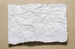 A4 size white crumpled paper Royalty Free Stock Photography