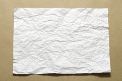 A4 size white crumpled paper Stock Image