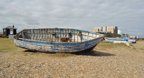 Sizewell beach and nuclear power station Royalty Free Stock Images