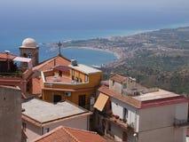Sizilianische Dachspitzenlandschaft Stockfotografie