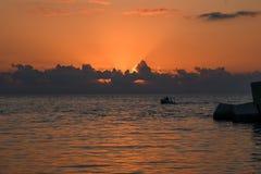 Sizilianischer Sonnenuntergang Stockfoto