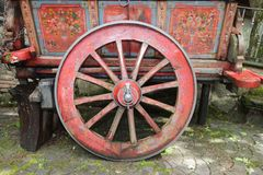 Sizilianisches Wagenrad lizenzfreie stockfotos