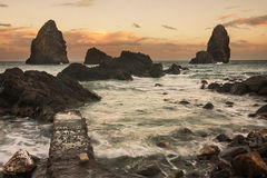 Sizilien: Acitrezza bei Sonnenuntergang Lizenzfreie Stockfotos