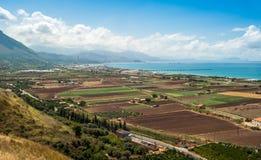 Sizilien-Felder Stockbilder