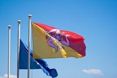 Sizilien-Markierungsfahne Lizenzfreies Stockbild