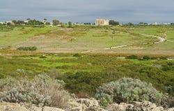 Sizilien und der antike Tempel in Selinunt Stockfotos