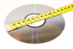 Sizing data storage Royalty Free Stock Photos