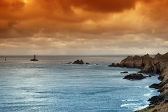 Sizun cape in Finistere coast Royalty Free Stock Photo