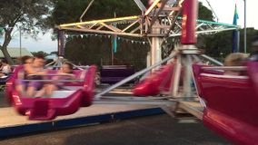 Sizzler amusement ride, Inverloch stock video footage