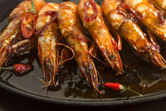 Sizzling Asian Prawns Royalty Free Stock Photo