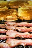 Sizzling Bacon and French Toast Royalty Free Stock Photo