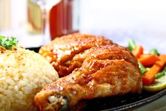 Sizzling chicken Royalty Free Stock Images