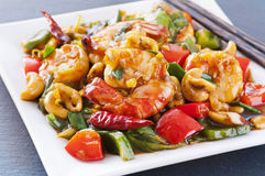 Sizzling gambas Royalty Free Stock Photography
