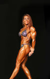 Sizzling Hot Redheaded Woman Bodybuilder Royalty Free Stock Images