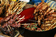 Sizzling kebabs Stock Photo