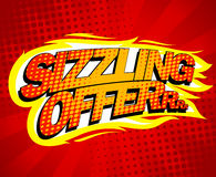 Sizzling offer sale design. Sizzling offer sale design, pop-art style Stock Photography
