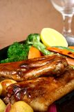 Sizzling pork ribs stock image