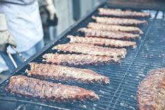 Sizzling Ribs Stock Image
