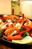 Sizzling shrimp Royalty Free Stock Photos