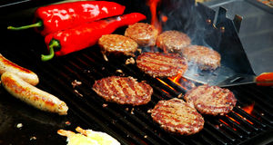 Sizzling Summer barbecue Stock Image