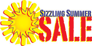 Sizzling Summer Sale. Vector graphic for summer retail sales Royalty Free Stock Photos