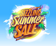 Sizzling summer sale, hot tropical design Royalty Free Stock Images