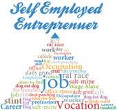 Själv - använd entreprenörjobbockupation Fotografering för Bildbyråer