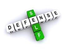 Själv - försvar Arkivfoton
