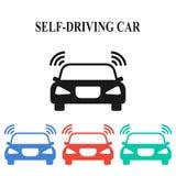 Själv-körning av bilen Royaltyfri Bild