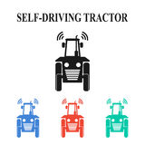 Själv-körning av traktoren Royaltyfria Bilder