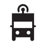 Själv som kör lastbilen - skårasymbol - svart Royaltyfri Foto