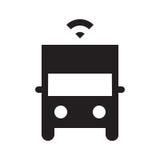 Själv som kör lastbilen - skårasymbol - svart Arkivfoto
