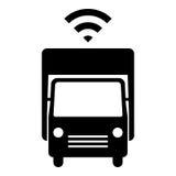 Själv som kör lastbilsymbolen Arkivfoton