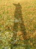 Själven skuggar Fotografering för Bildbyråer