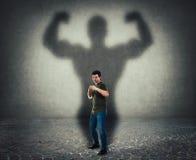 Självförsvar, inre styrka och motivationbegrepp royaltyfri illustrationer
