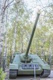 Självgående prövkopia för artilleri SU-100 i 1944 Arkivfoton