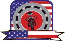 Självhäftande motorcykel Arkivfoton
