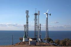 Självständig station av telekommunikationar royaltyfria bilder