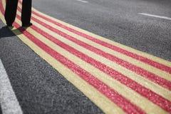 Självständighet av Catalonia/Barcelona, 11 September, 2014 Arkivfoton