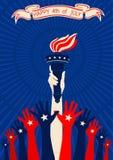 Självständighet av Förenta staterna Arkivfoto